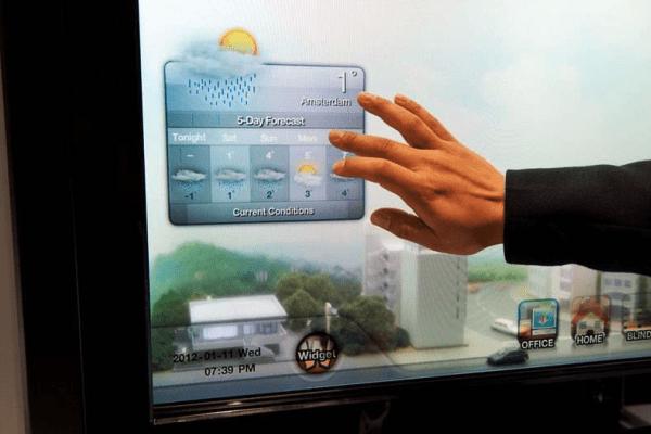 Сенсорный дисплей окна фото